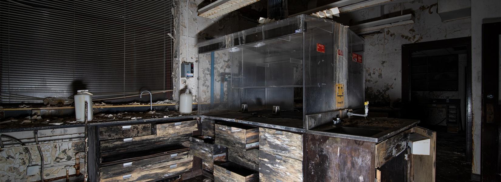 Le vieux laboratoire abandonné