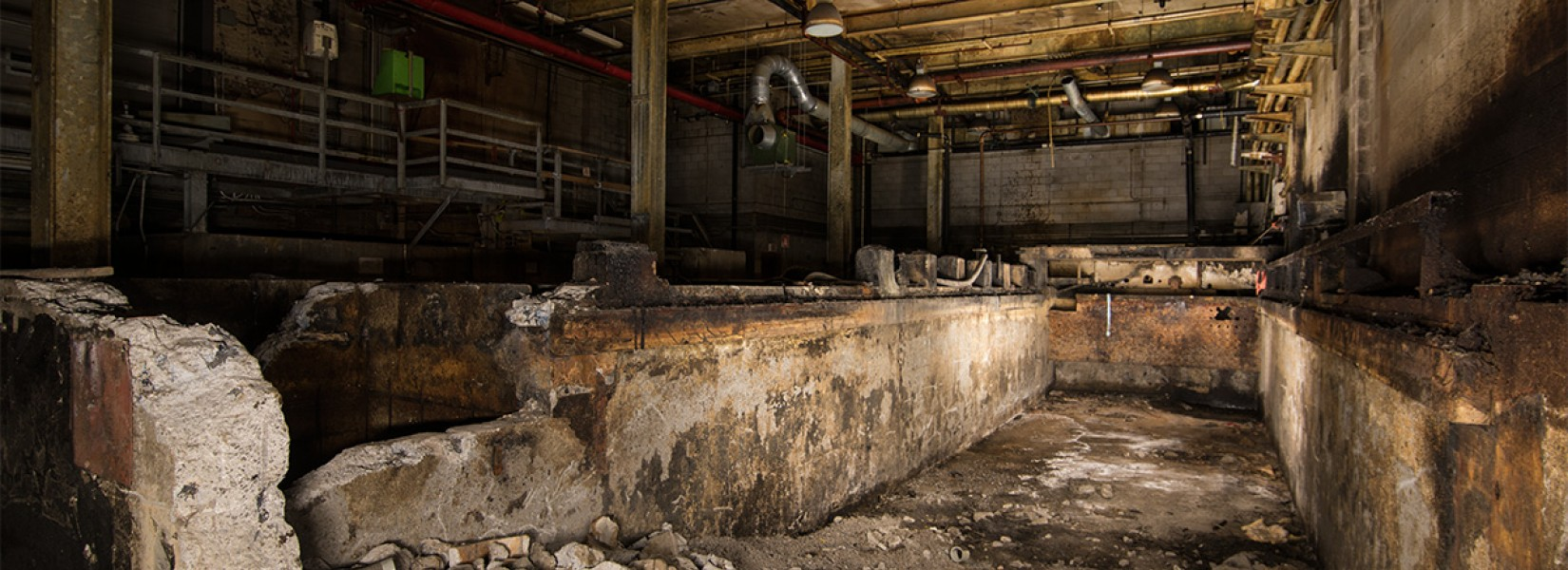 The old vegetable oil plant