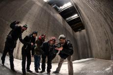 5 explorers in the former incinerator des Carrières in Montreal