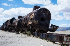 Le cimetière de train d'Uyuni en Bolivie