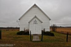 The almost abandoned Beaver Creek Free Methodist church