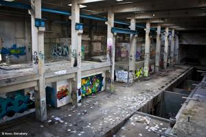 The abandoned Hermes Paper Factory/Recycling Center