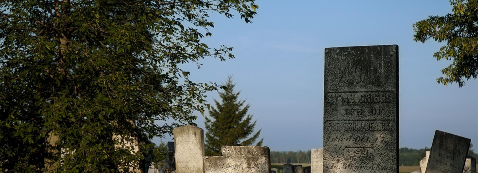 Miranda cemetery on the 3rd concession road - Fadden Corner (Noyan)
