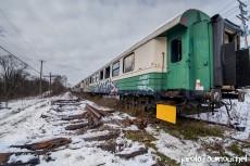Le train touristique abandonné